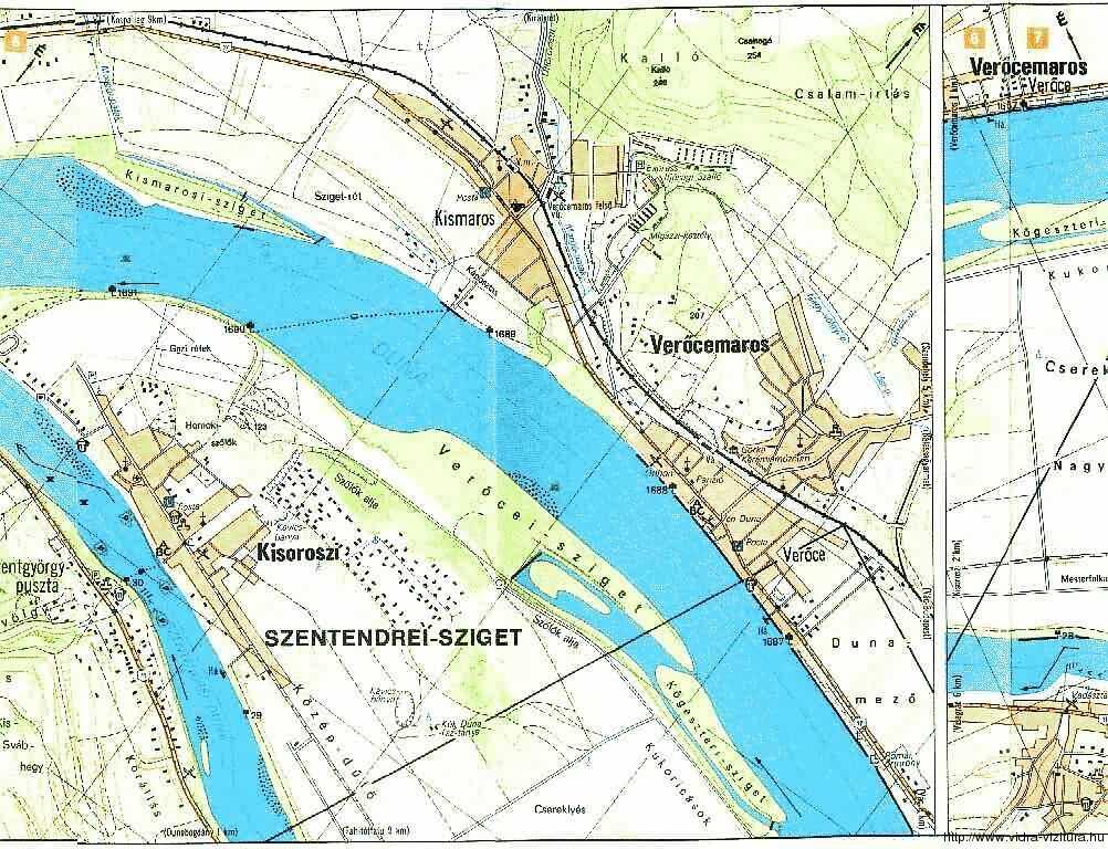 Dunakanyar vízitúra térképek